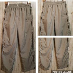 Nike Pants Activewear Nylon Zip Leg Pockets Men's
